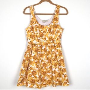 Forever 21 Floral Yellow Sundress M